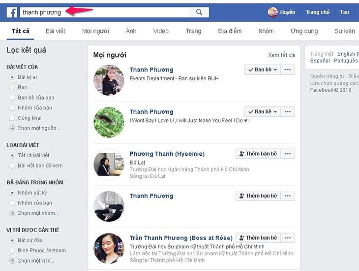 Cách tìm facebook qua ảnh hay ho
